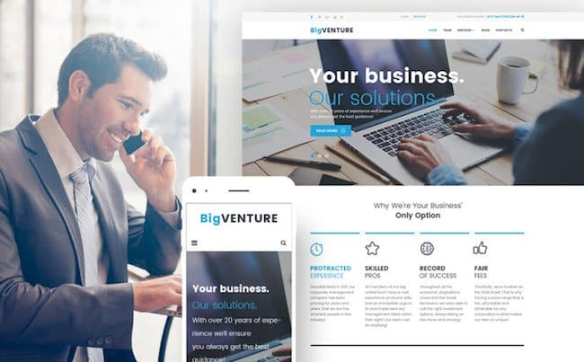 BigVenture - Business & Consulting WordPress Theme