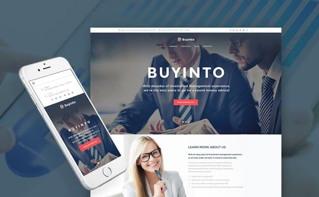 Business Investment & Management WordPress Theme