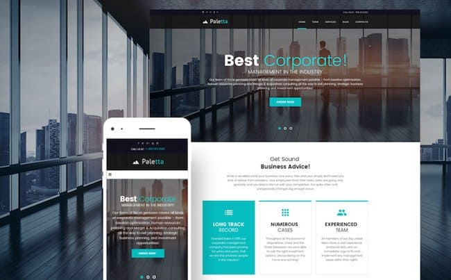 Paletta - Corporate & Business WordPress Theme