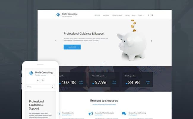 Profit Consulting - Financial Advisor WordPress Theme