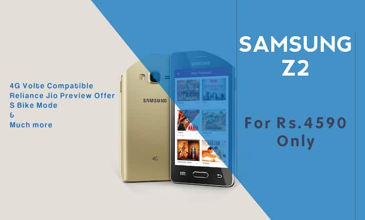 Samsung Z2 Launched For Rs 4590 With Tizen Os And 4g Compatibility