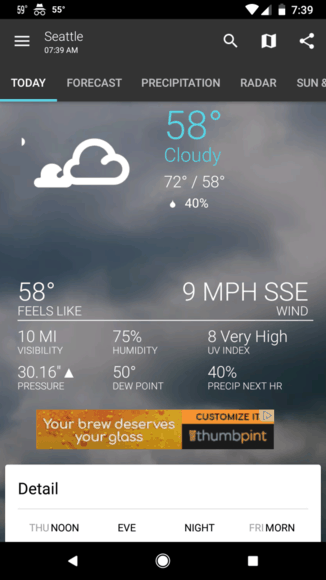 free weather app for android phone